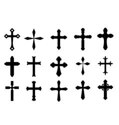 Cross symbols vector