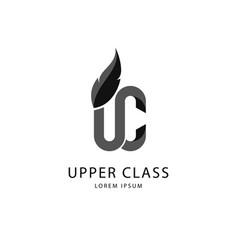 Dark gray upper class logo vector
