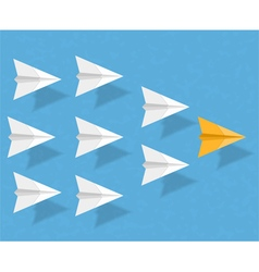 Paper Airplanes vector image vector image