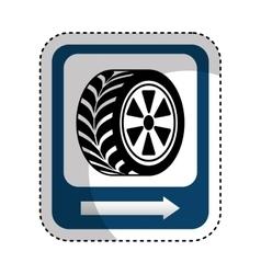 traffic signal car tire location vector image vector image