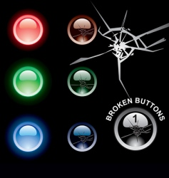 broken buttons vector image vector image