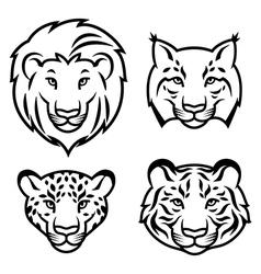 feline stylized vector image