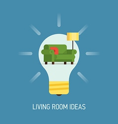 Room Ideas for a Living Room vector image