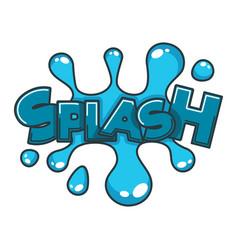 comic splash water speech bubble cloud explode vector image vector image