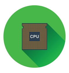 CPU icon vector image vector image