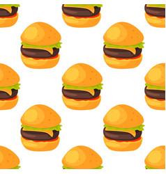 fast food seamless pattern natural menu restaurant vector image