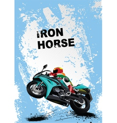 iron horse vector image vector image