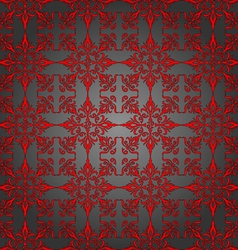 Luxury silver and red wallpaper seamless pattern vector