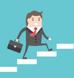 businessman walking upstairs vector image
