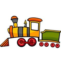 Cartoon train or locomotive vector