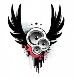 music insignia vector image vector image