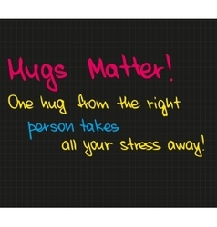 One hug from the right person vector image vector image