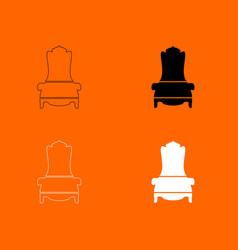throne icon vector image vector image