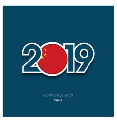 2019 china typography happy new year background vector