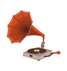 A gramophone vector