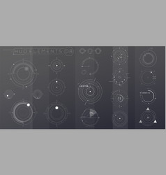 A set hud circular elements for futuristic vector