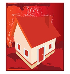 Abstract house design vector image