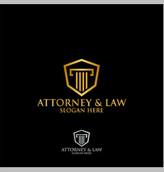 abstract table hexagon attorney law logo template vector image