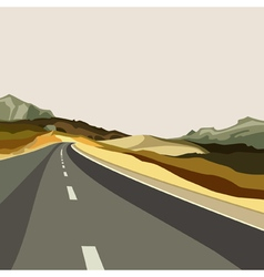 Background empty highways in the highlands vector
