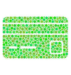 Bank card composition of dots vector
