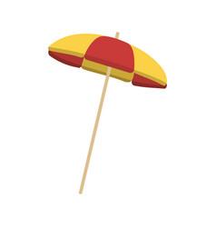 beach striped umbrella vector image