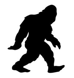 bigfoot sasquatch yeti silhouette cartoon vector image