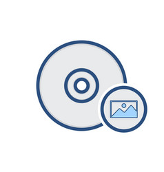 Burn disk drive image iso storage write icon vector