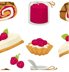 cake sweets food with sugary ingredients vector image