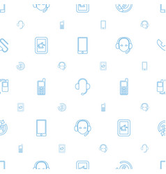 Call icons pattern seamless white background vector