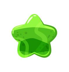 Candy honey star jelly icon cartoon shiny vector