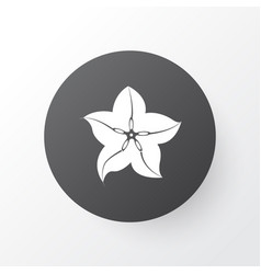 Carambola icon symbol premium quality isolated vector
