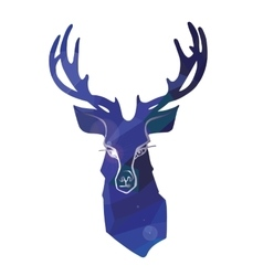 Cartoon deer in polygon ornament vector image