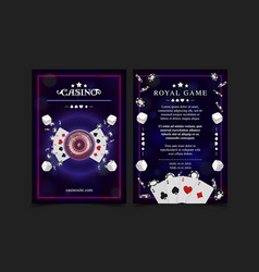 Casino background poster flyer vip invitation vector