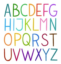 Colorful hand drawn full alphabet vector image