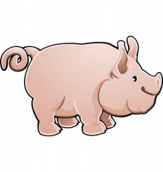 cute pig vector image
