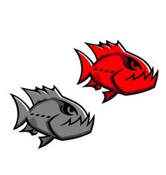 danger piranha vector image