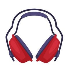 Ear protectors or earmuffs as noise isolator vector