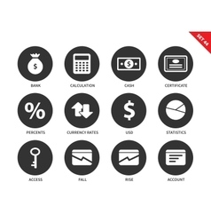 Economy icons on white background vector image