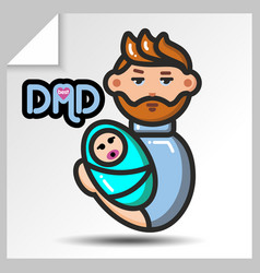 Fathers day icons 3 vector