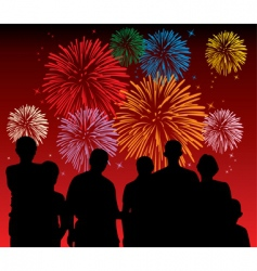 fireworks display vector image