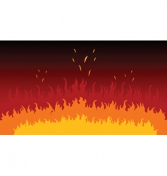 flames and fire vector image