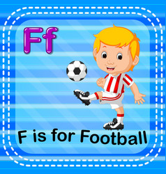 flashcard letter f is for football vector image