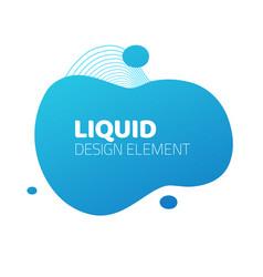 fluid liquid splash frame element design for text vector image
