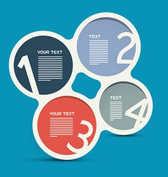 Four Steps Circle Infographic Layout - Template vector image vector image
