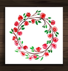 Frame with flowers red vector