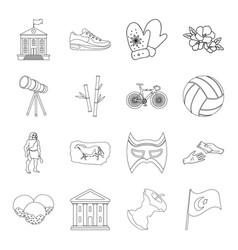 Funds travel nature and other web icon in vector