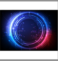 futuristic color abstract technology vector image
