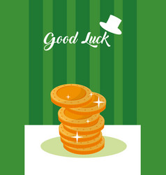 Good luck concept card vector