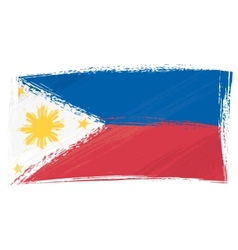 Grunge Philippines flag vector image
