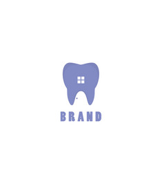 home teeths logo vector image